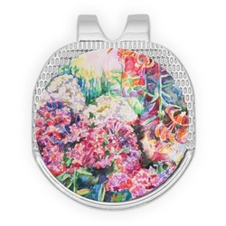 Watercolor Floral Golf Ball Marker - Hat Clip