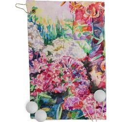 Watercolor Floral Golf Towel - Full Print