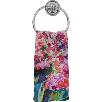 Watercolor Floral Hand Towel - Full Print