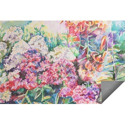 Watercolor Floral Indoor / Outdoor Rug