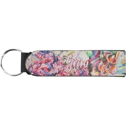 Watercolor Floral Neoprene Keychain Fob