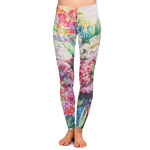 Watercolor Floral Ladies Leggings