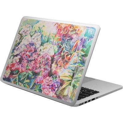 Watercolor Floral Laptop Skin - Custom Sized