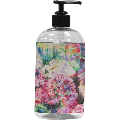 Watercolor Floral Plastic Soap / Lotion Dispenser
