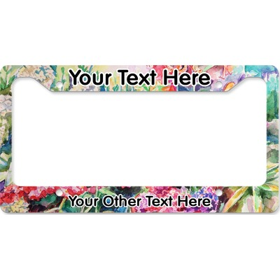 Watercolor Floral License Plate Frame