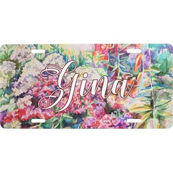 Watercolor Floral Front License Plate