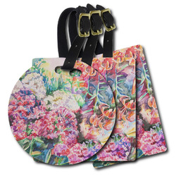 Watercolor Floral Plastic Luggage Tags