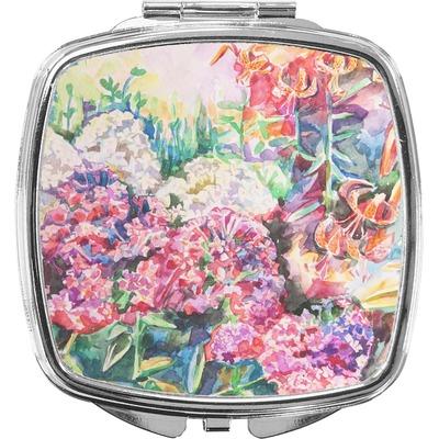 Watercolor Floral Compact Makeup Mirror