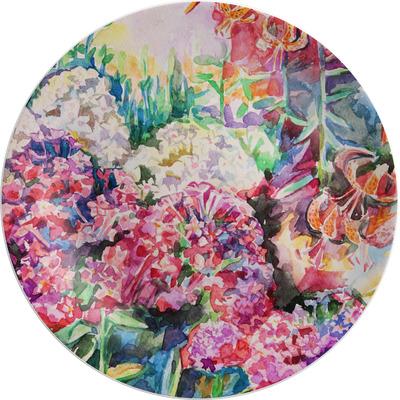 "Watercolor Floral Melamine Salad Plate - 8"""