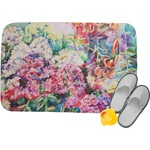 Watercolor Floral Memory Foam Bath Mat