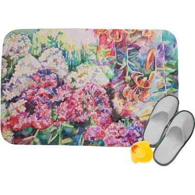 Watercolor Floral Memory Foam Bath Mat