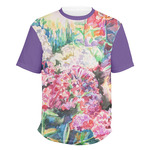 Watercolor Floral Men's Crew T-Shirt