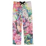 Watercolor Floral Mens Pajama Pants