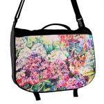 Watercolor Floral Messenger Bag