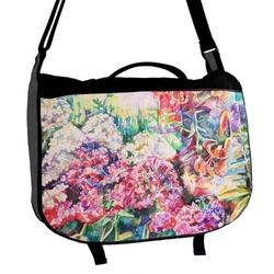 Watercolor Floral Messenger Bag