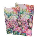 Watercolor Floral Microfiber Golf Towel