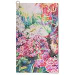 Watercolor Floral Microfiber Golf Towel - Large