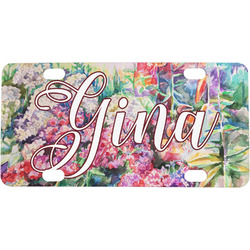 Watercolor Floral Mini / Bicycle License Plate