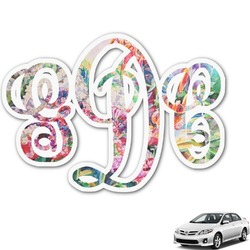 Watercolor Floral Monogram Car Decal