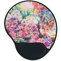 Watercolor Floral Mouse Pad with Wrist Support