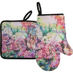 Watercolor Floral Oven Mitt & Pot Holder