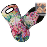 Watercolor Floral Neoprene Oven Mitt