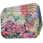 Watercolor Floral Dining Table Mat - Octagon