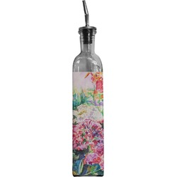 Watercolor Floral Oil Dispenser Bottle