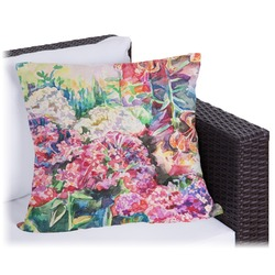 Watercolor Floral Outdoor Pillow