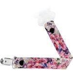 Watercolor Floral Pacifier Clips