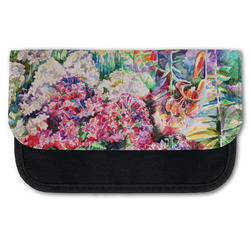Watercolor Floral Canvas Pencil Case