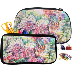 Watercolor Floral Pencil / School Supplies Bag