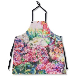 Watercolor Floral Apron Without Pockets