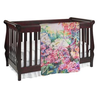 Watercolor Floral Baby Blanket