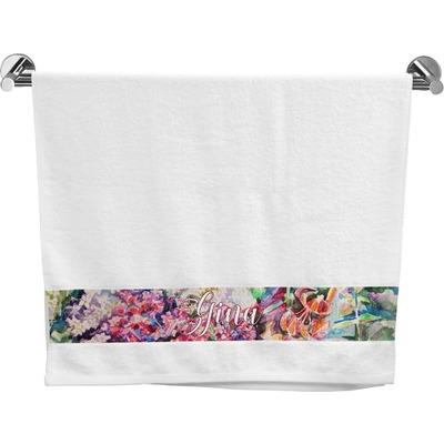 Watercolor Floral Bath Towel