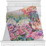 Watercolor Floral Minky Blanket