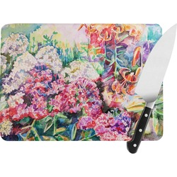 Watercolor Floral Rectangular Glass Cutting Board