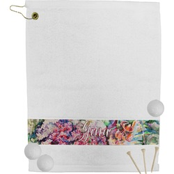 Watercolor Floral Golf Towel