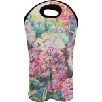 Watercolor Floral Wine Tote Bag (2 Bottles)