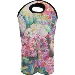 Watercolor Floral Wine Tote Bag (2 Bottles)