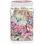 Watercolor Floral Dog Treat Jar