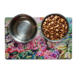 Watercolor Floral Dog Food Mat