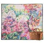 Watercolor Floral Outdoor Picnic Blanket