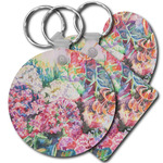 Watercolor Floral Plastic Keychains