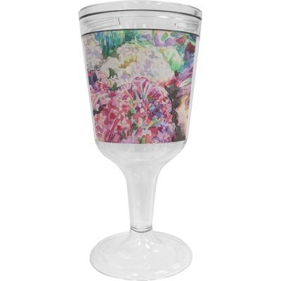 Watercolor Floral Wine Tumbler - 11 oz Plastic