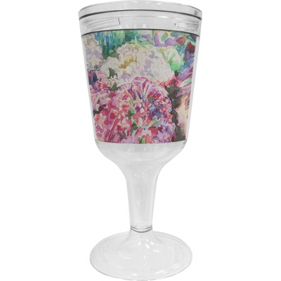 Watercolor Floral Wine Tumbler - 11 oz Plastic