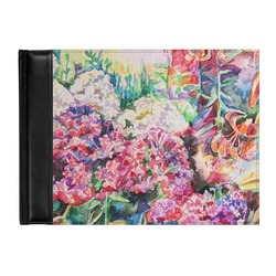 Watercolor Floral Genuine Leather Guest Book