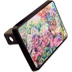 """Watercolor Floral Rectangular Trailer Hitch Cover - 2"""""""