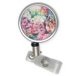Watercolor Floral Retractable Badge Reel