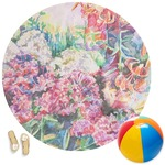 Watercolor Floral Round Beach Towel